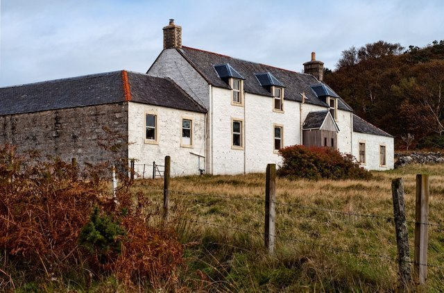 Barnhill, secluded at the north end of the isle of Jura, where George Orwell finished Nineteen Eighty-Four. Photograph: Dutyhog at www.geograph.org.uk