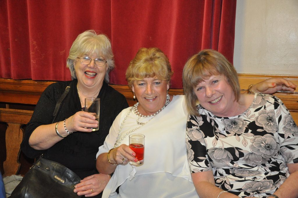 Janet MacNaughton, Joanie Mackay and Mary Bowman