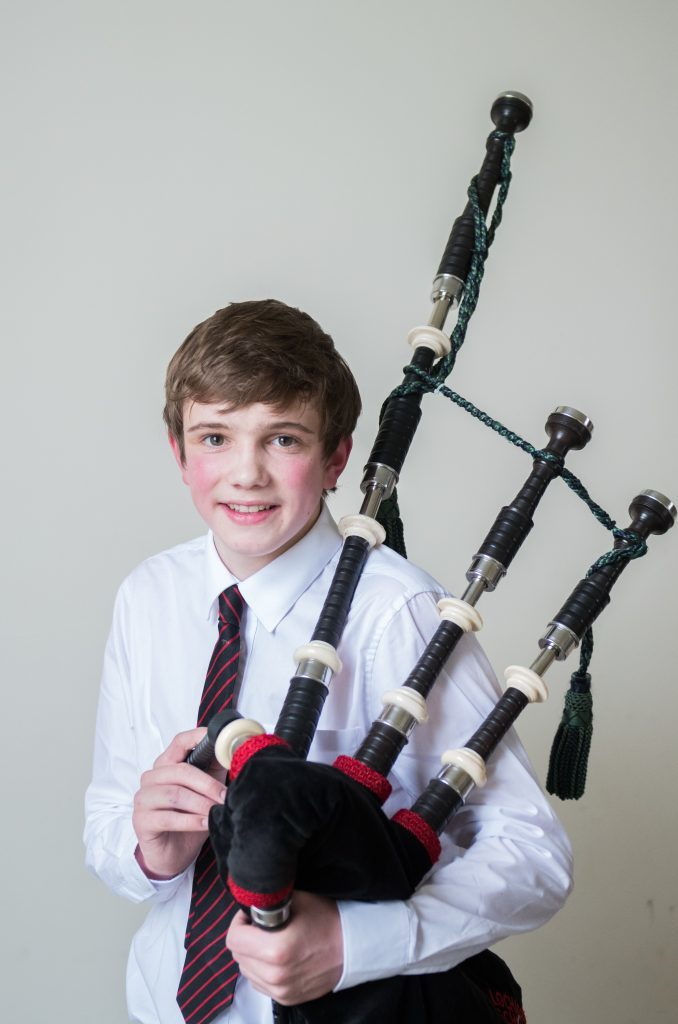Ben Fulford 1st in bagpipe solos 2nd year piobaireachd.