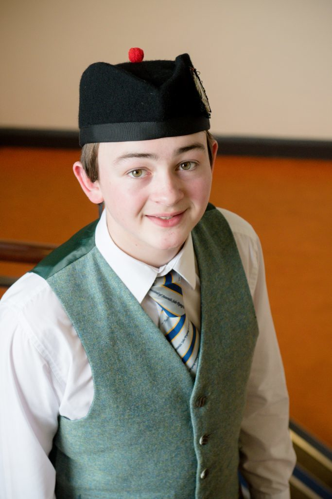 Finlay Cameron winner of 5 awards including Premier Scots traditional award.