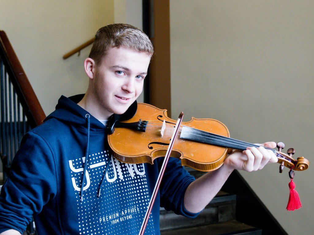 John Stewart-Stevenson Winner of violin solo scots intermediate.