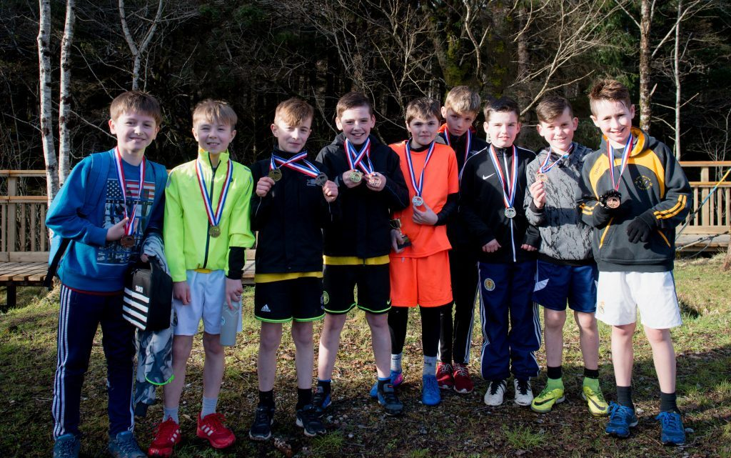 Boys' teams winners: Inverlochy (third), Lundavra (second) and Caol (first). Abrightside Photography