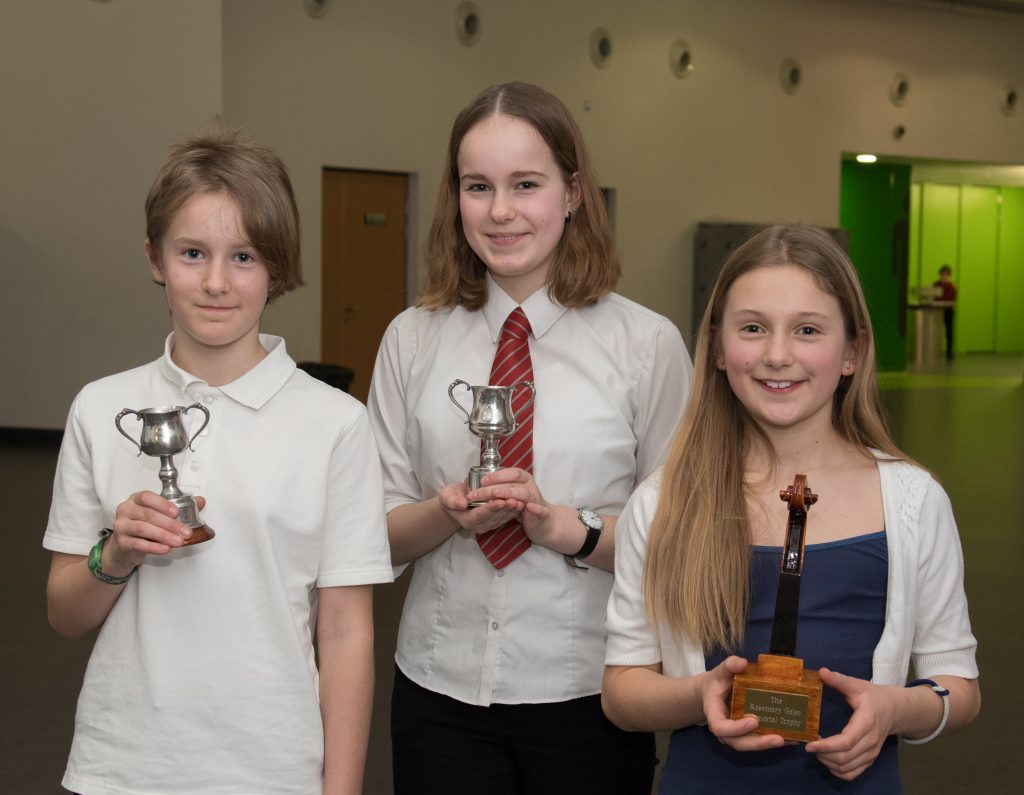 L-R Ailsa Jansen, Fiona Jansen and Megan Pescod with their awards.