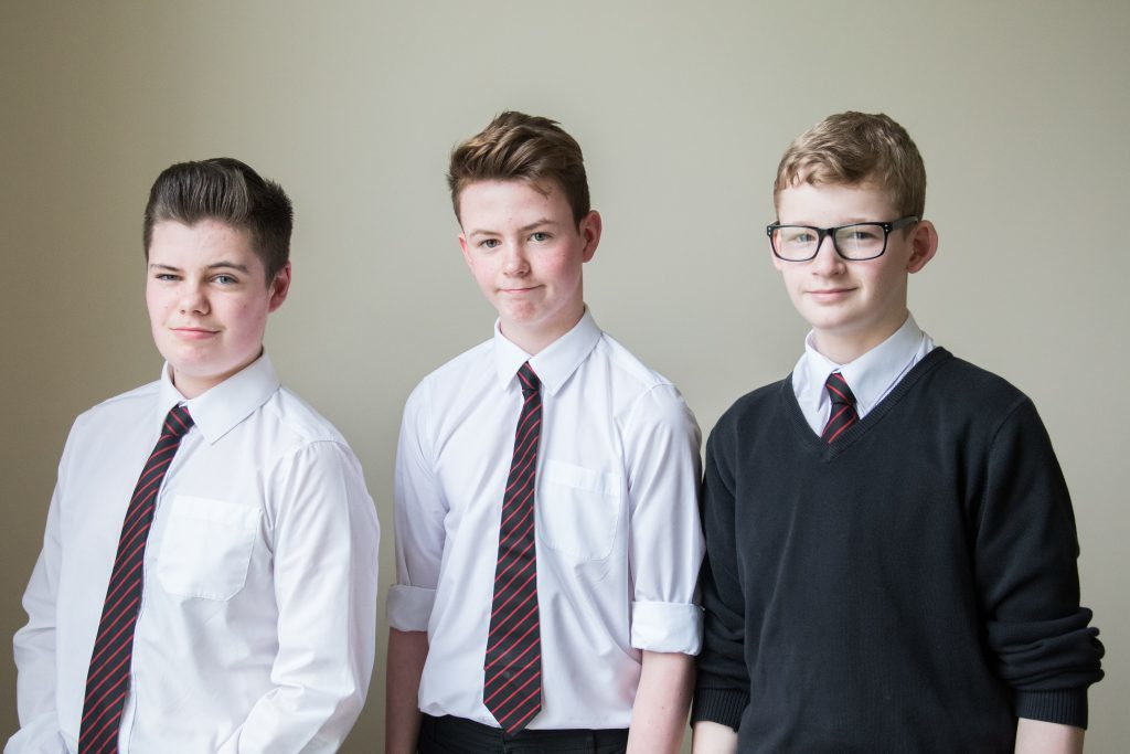 L-R Andrew Orr 3rd Ronnie MacIntosh 1st and Graham Laidlaw 2nd in Bagpipe solos Novice.