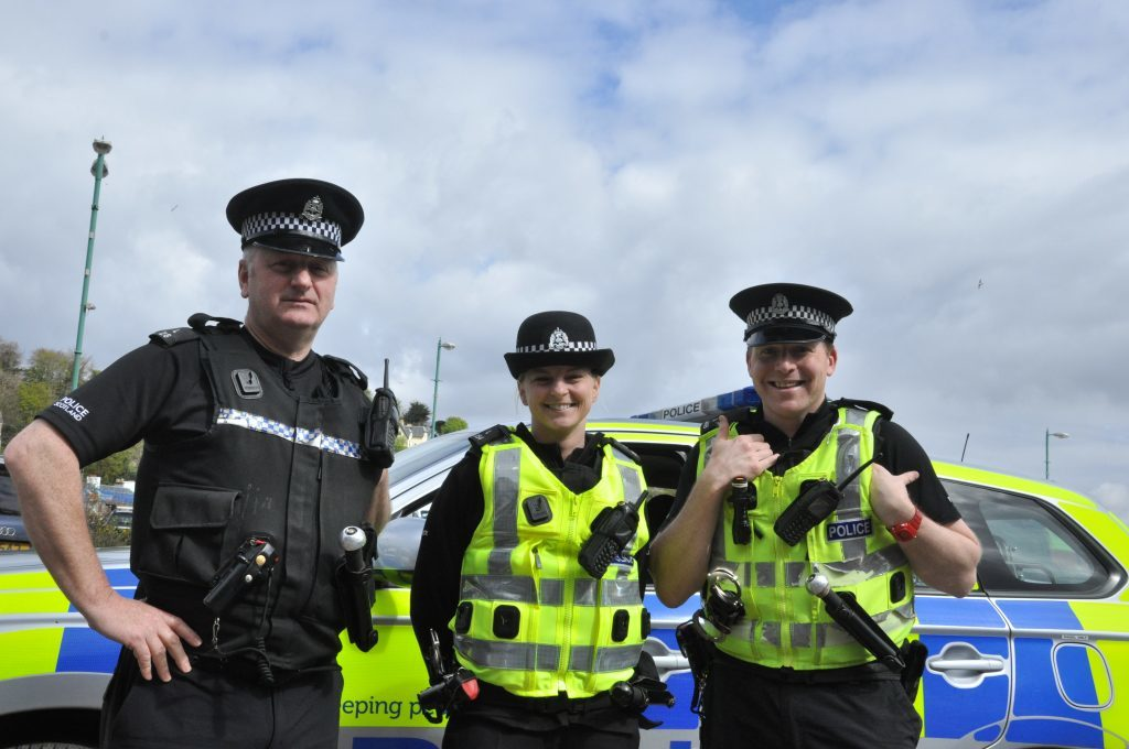 Argyll's finest were on hand to make sure everyone had a good time.