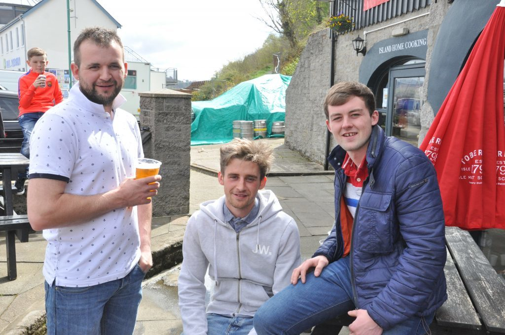 Mull residents partied in the sun but the unpredictable weather was not to last the whole four days.
