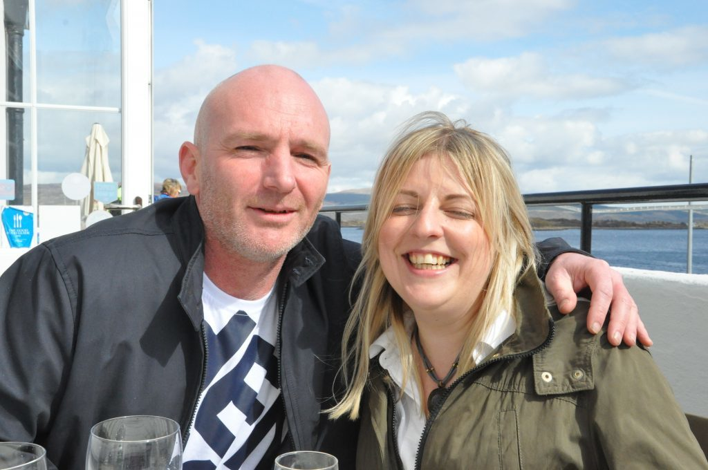William Peter Craig and Rita Gartner were clearly enjoying themselves in the sun.