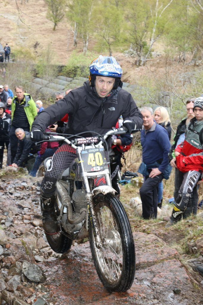 Gary MacDonald won the pre65 Trial on Saturday. Photograph: Ginger Snaps Photography