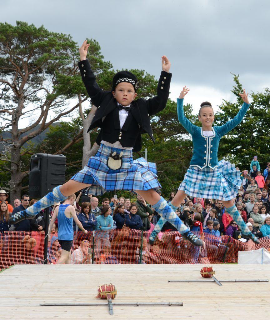 Action from the junior Highland Dancing.  F33 Skye Games 06NO. Photo: Sara Bain.