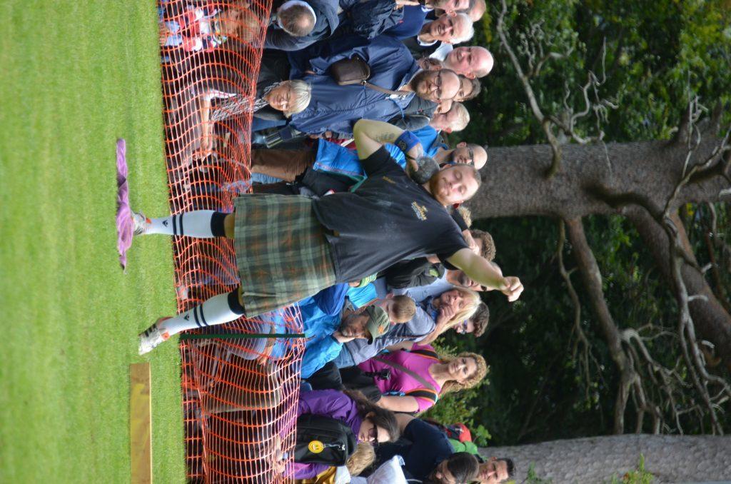 Falkirk's Jamie Gunn makes it look easy. F33 Skye Games 09NO. Photo: Sara Bain.