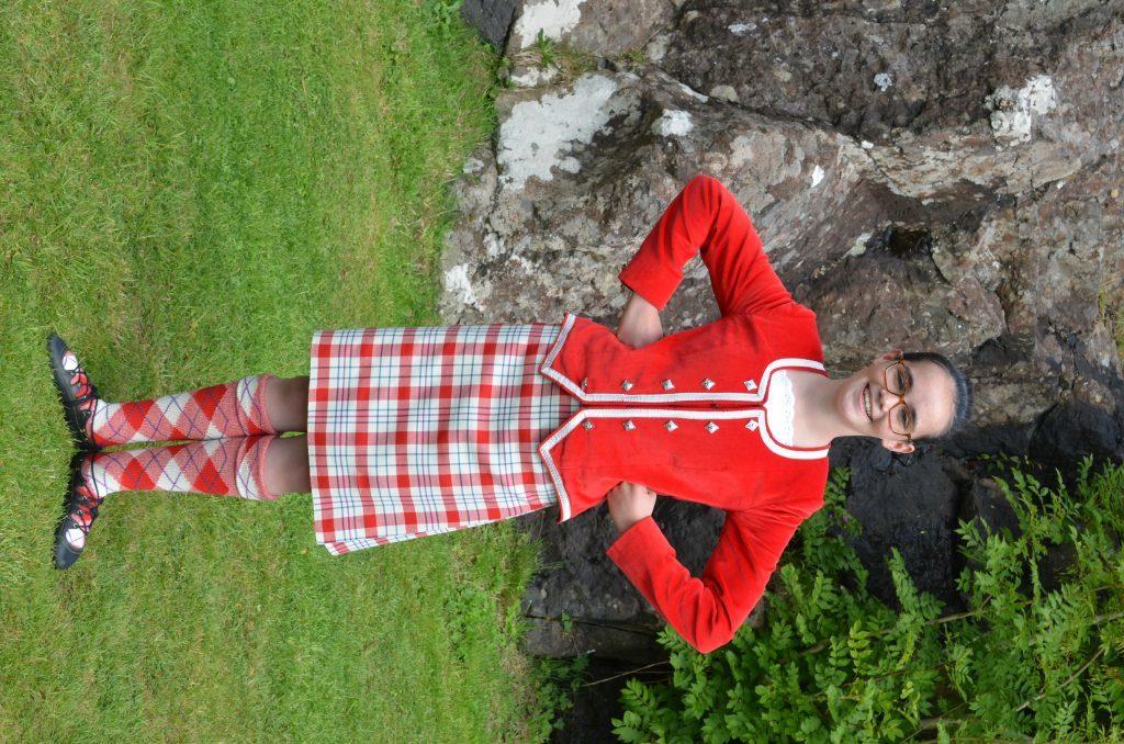 Gemma Taylor from Portree. F33 Skye Games 12NO. Photo: Sara Bain.