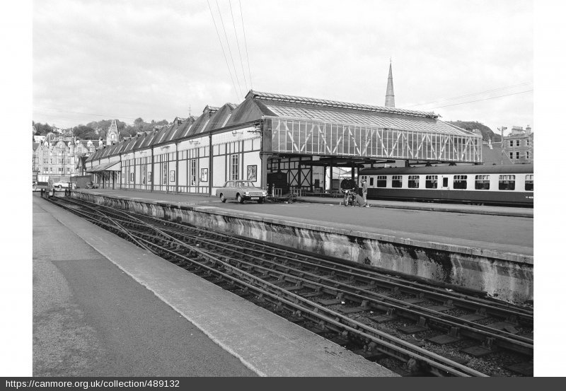 Oban train station, demolished in the late 1980s.