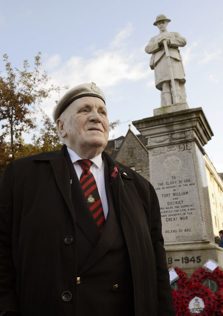 Mark McCann of the Legion marked his 50th Remembrance day Parade in Fort William on Sunday. IF F46 Remembrance Fort 10.