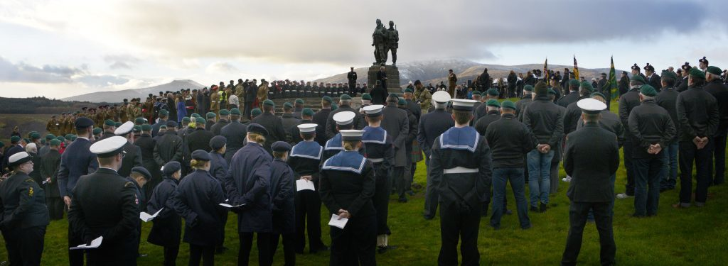 The Remembrance service at the Commando Memorial was well attended. IF F46 Remembrance Spean 01. Photo: Iain Ferguson, the Write Image.