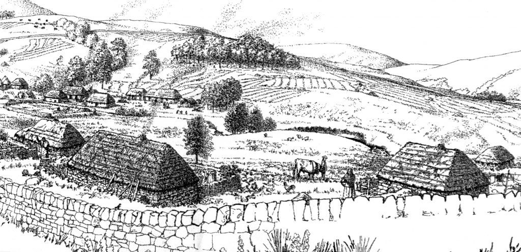 Artist's impression of Inniemore when it was occupied (Forestry Commission)