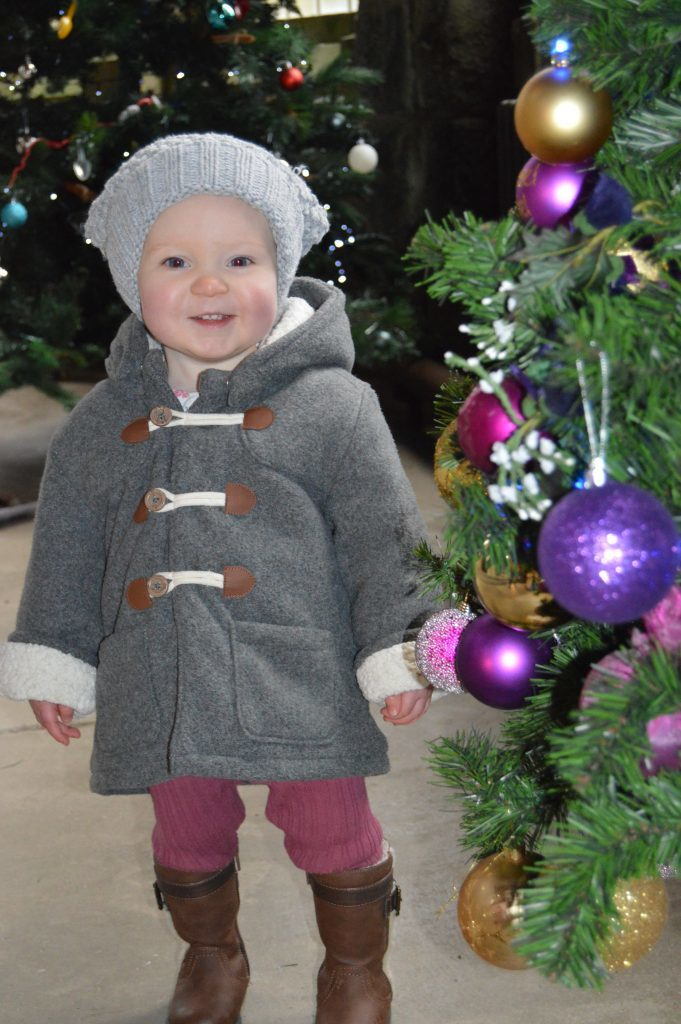 So many Christmas trees! One-year-old Mhàiri Johnston of Cladich was spellbound by all the colour and lights when she was taken along to the Christmas tree festival at St Conan's Kirk, Lochawe, on Saturday by her mum Holly Ford and auntie Cara Johnston.  Photographs: Joanne Simms.