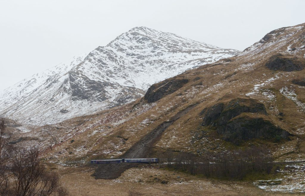 Flashback to a landslide on the West Highland Line in January 2018.  PIC IAIN FERGUSON, THE WRITE IMAGE