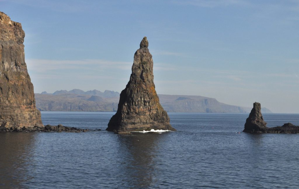 'MacLeod's Maidens' on Skye's distinctive coastline to the north-west of Soay. Photograph: Iain Thornber