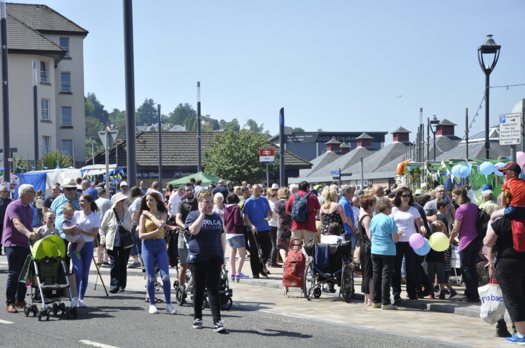 Oban Station Square was packed with people for this year's Charities Day.16_T23_CharitiesDay04