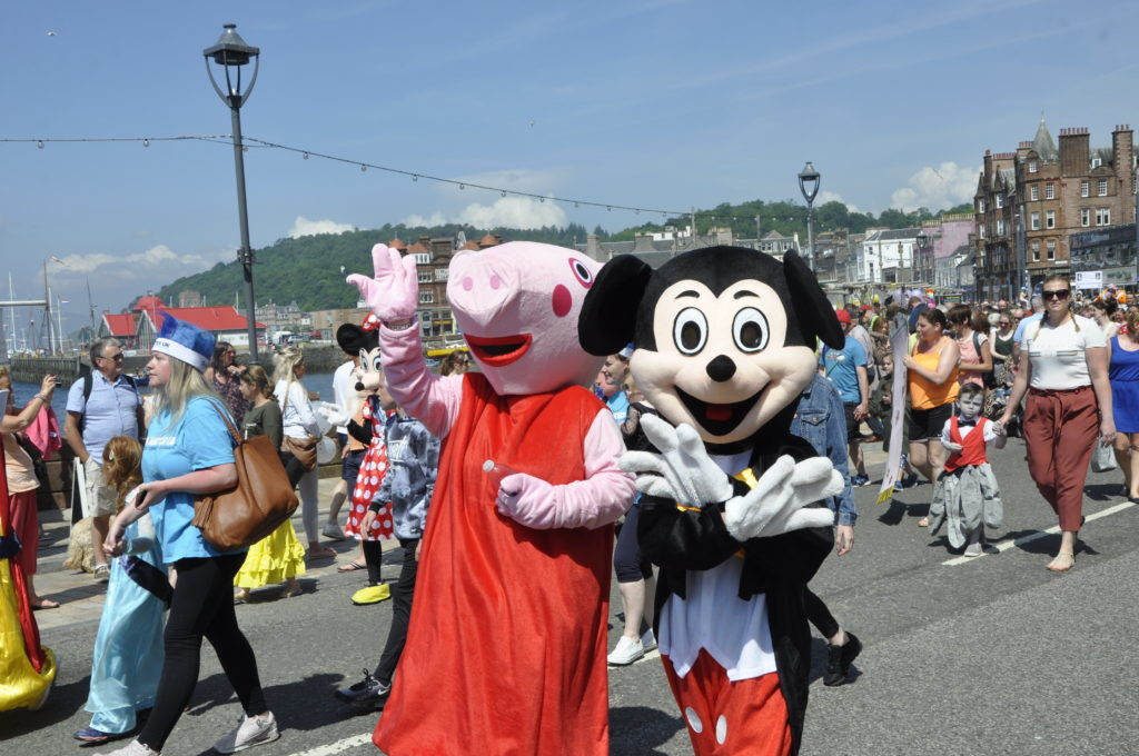 Peppa Pig and Micky Mouse both attended last year's event. 16_T23_CharitiesDay07
