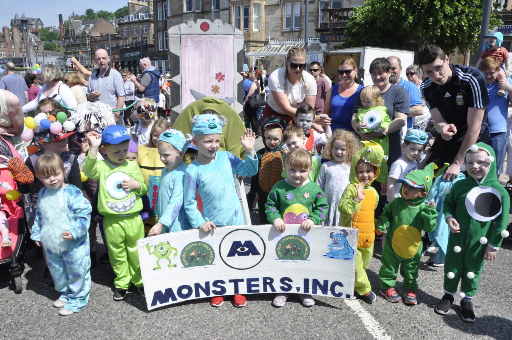 Youngsters from Soroba Young Family Group nursery dressed as characters from Monsters Inc. 16_T23_CharitiesDay08