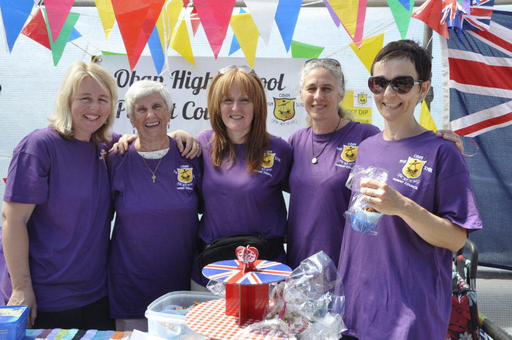 The Oban High School Parent Council raising funds last year. 16_T23_CharitiesDay12