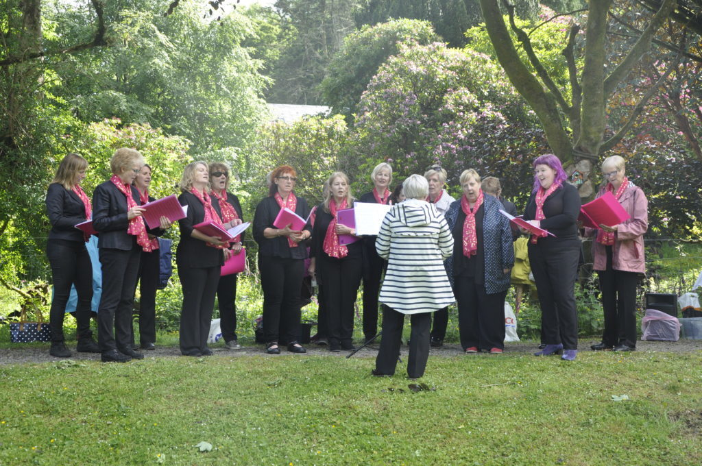 Oban Ladies Sequence Choir performed before the release. 16_T25_Butteryflyrelease01