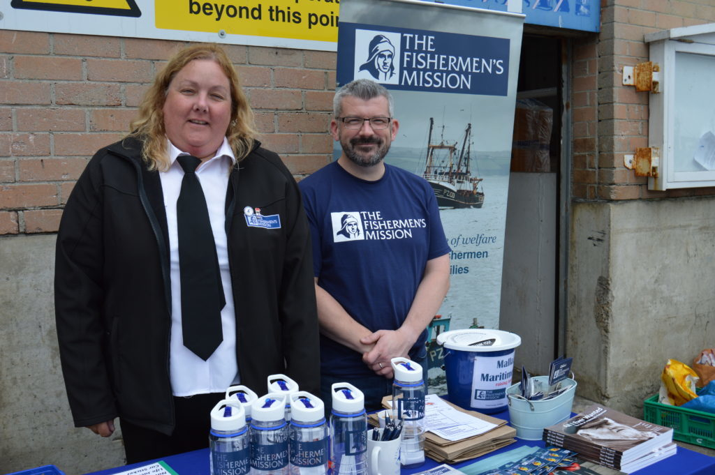 ​Heather Gray and Euan Calder at The Fishermen's Mission stall. Photograph: Joanne Simms