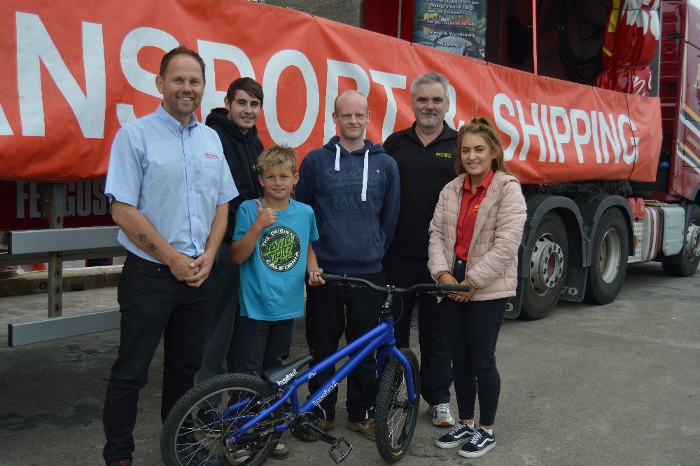 ​  The Ferguson Transport team were: Jack Ferguson, Archie Ferguson, Michael Napier, Paul Robertson, Kevin Cox and Mairi Sandison.