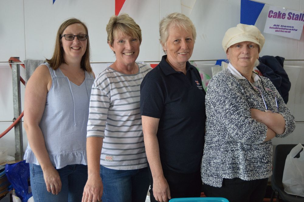 ​Ruth MacDonald, Mari Henderson, Liz MacLean and Many Ann Mathieson were running the cake stall.