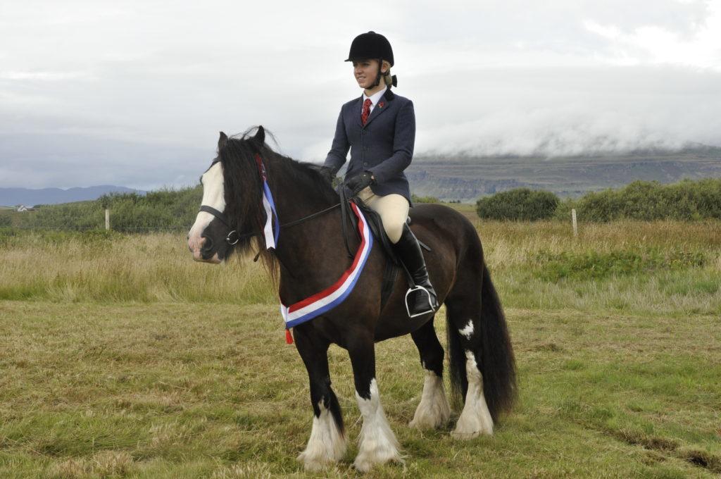 Olivia Sexton, 16, from Salen on her champion horse Duke