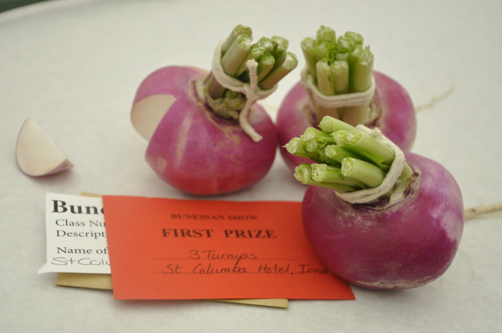 St Columba Hotel on Iona took first prize for three turnips