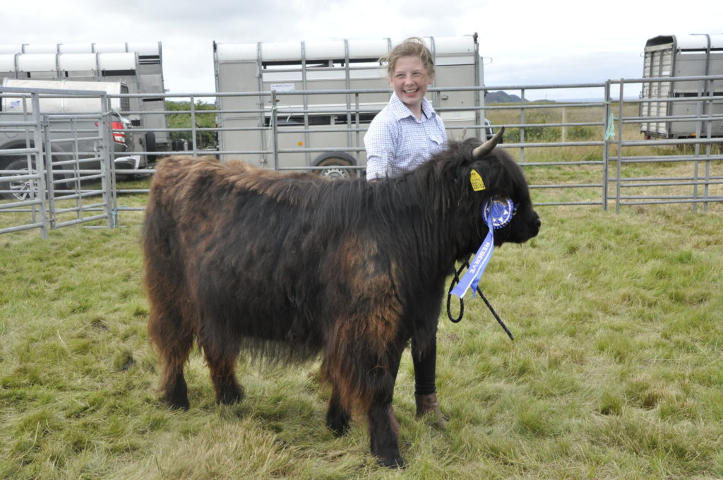 Kelsie Prentice, 10, from Iona with Jet who won reserve champion in the native cattle category