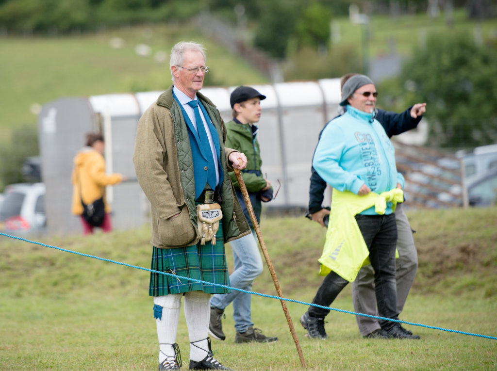 Caol and Mallaig councillor Allan Henderson as the chieftan at this year's games. F32 MM Games 03