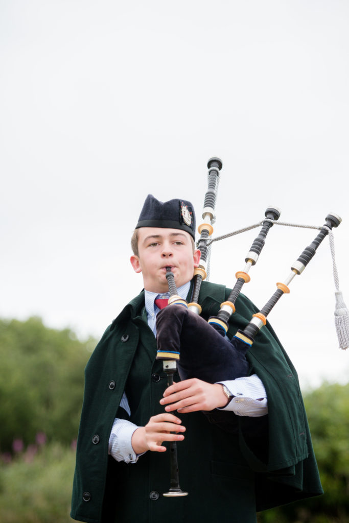 Finlay Cameron competes in the piping comp. F32 MM Games 05