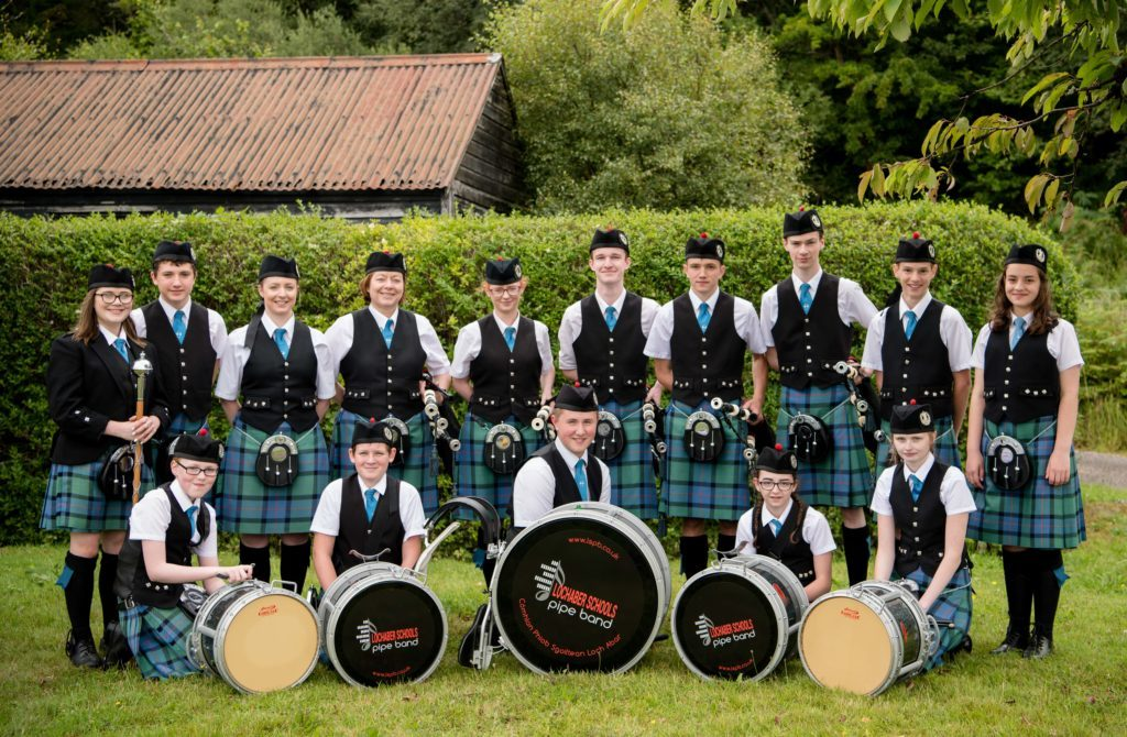 Lochaber Schools Pipe Band played at the games. F32 MM Games 07