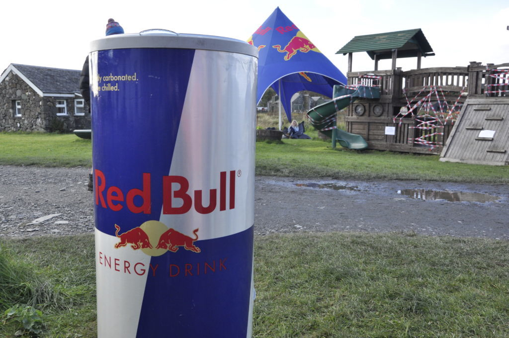 Red Bull were handed out cans of energy drink. 17_T39_StoneSkimming14