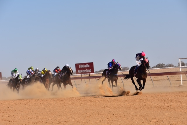 Desert racing is just one of the sights seen on Kay Simpson's journey.