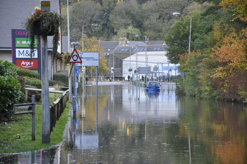 Flood waters changed the Lochavullin landscape.