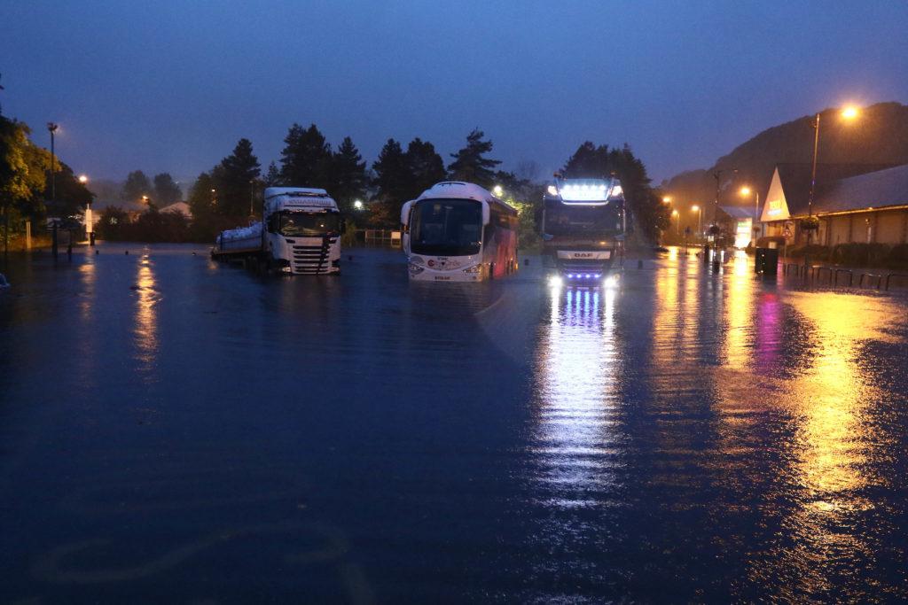 Stranded vehicles at Lochavullin.