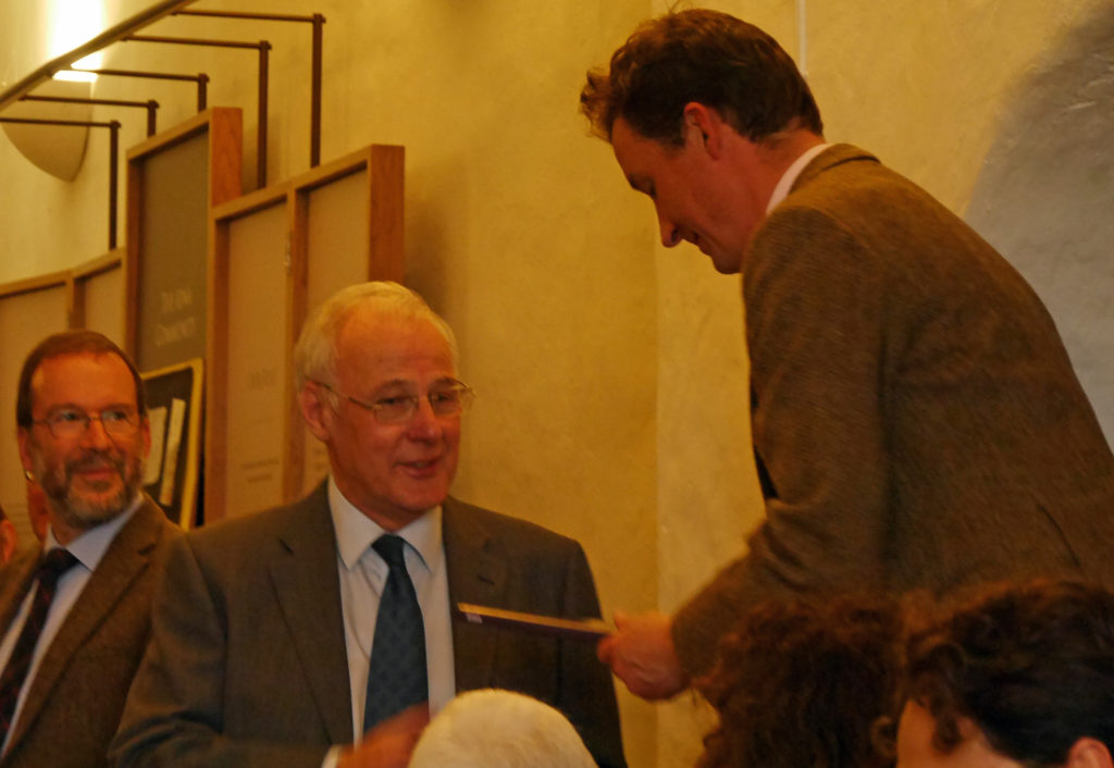 The Duke of Argyll and the Very Rev Dr Finlay Macdonald, chair of the Iona Cathedral Trust
