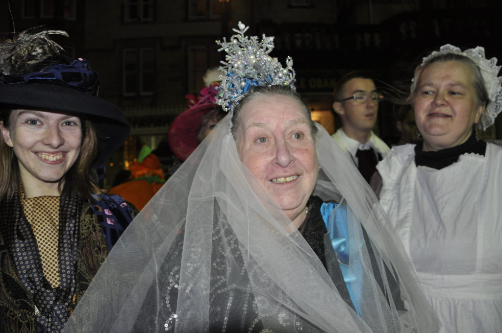 Even Queen Victoria and pals turned out for this year's reindeer parade.