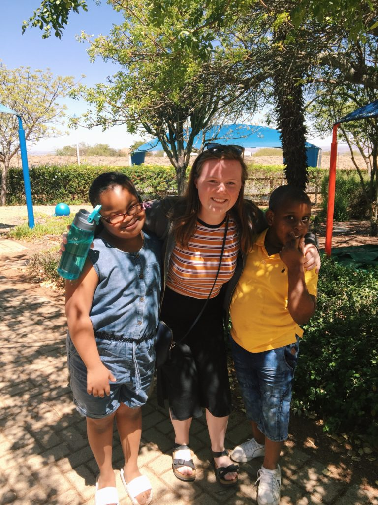Megan Evans with pupils from the enrichment centre in Limpopo where she volunteered one year as part of Project Trust.