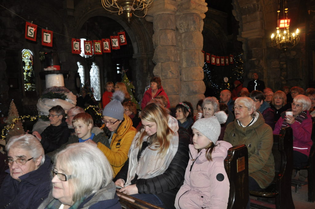 A record number of visitors packed into St Conan's Kirk over its Christmas Tree Festival weekend.