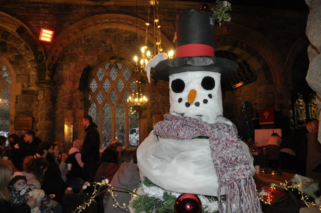Mr Snowman was just one of the smiley faces at this weekend's festival at St Conan's.