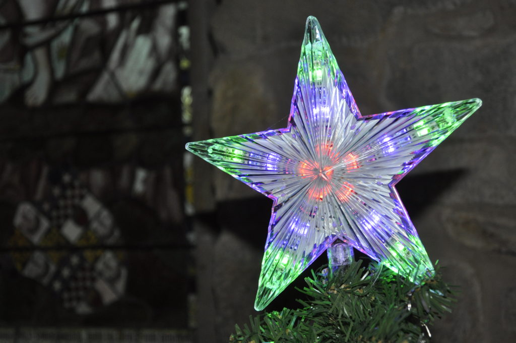 A dazzling star topping just one of the 62 trees on display at St Conan's Kirk over the weekend.