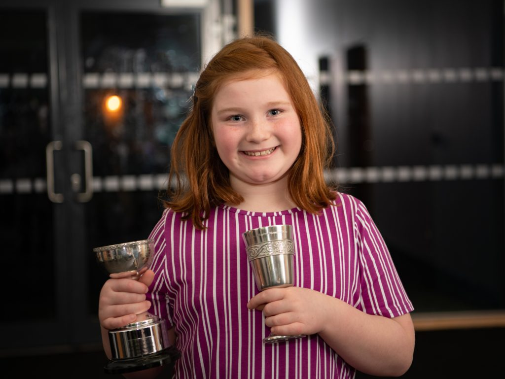 Lily Jane Robertson won the premier junior vocal award and the Maureen McSherry memorial cup.