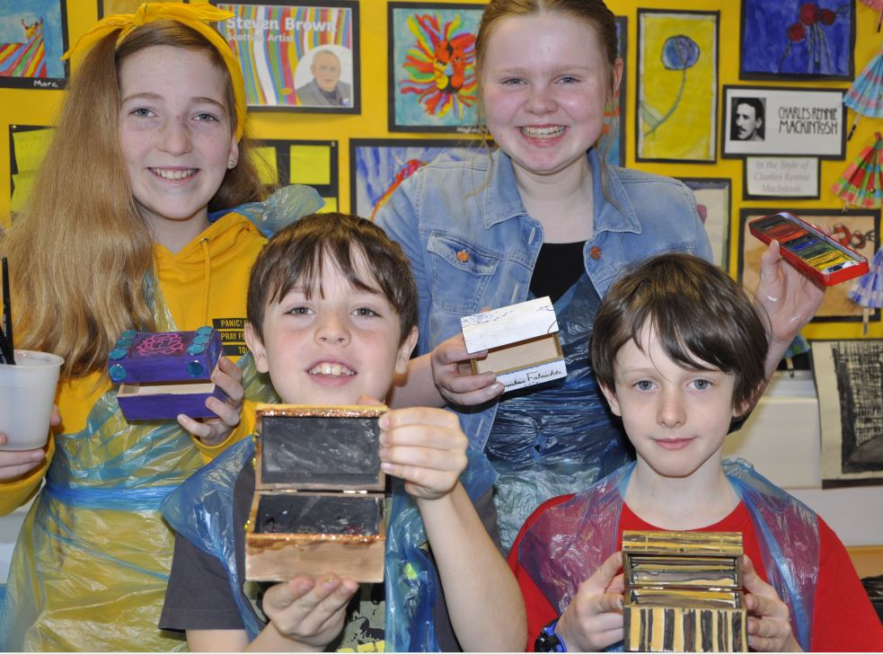 This group of youngsters took decorating treasure boxes to 'art.
