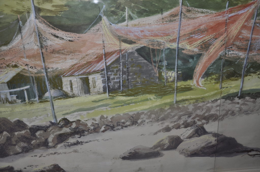 Fishing nets drying at Gairloch.