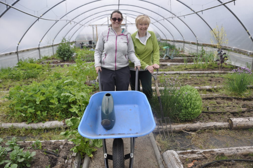 Warm welcome for growers in the polytunnels near Taynuilt.